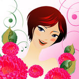 Beauty vector girl Royalty Free Stock Photos