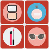 Beauty vector icon set Stock Images