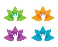 Lotus flowers design logo Template. Beauty Vector Lotus flowers design logo Template icon Royalty Free Stock Image