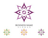 Lotus flowers design logo Template. Beauty Vector Lotus flowers design logo Template icon Stock Photos