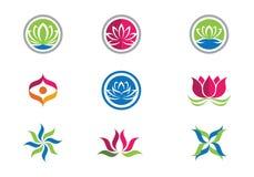 Lotus flowers design logo Template. Beauty Vector Lotus flowers design logo Template icon Royalty Free Stock Photo