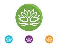 Lotus flowers design logo Template icon. Beauty Vector Lotus flowers design logo Template icon Royalty Free Stock Photos