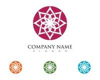 Lotus flowers design logo Template. Beauty Vector Lotus flowers design logo Template icon Stock Photo