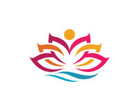 Beauty Vector Lotus flowers design. Logo Template icon Royalty Free Stock Photography