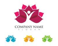 Lotus flowers design logo Template. Beauty Vector Lotus flowers design logo Template icon Stock Image