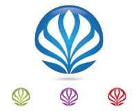 Lotus flowers design logo Template icon. Beauty Vector Lotus flowers design logo Template icon Royalty Free Stock Photo