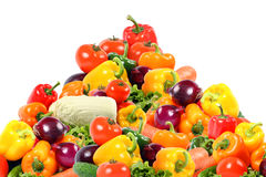 Beauty vegetable composition on white Royalty Free Stock Photos
