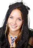 Beauty veiled girl Stock Image