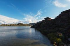 Beauty view on Kolyvan lake Royalty Free Stock Photo