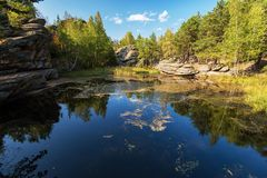 Beauty view on Mohovoe lake Royalty Free Stock Photography