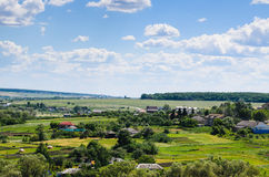 Beauty view of nature. Rural village Royalty Free Stock Images