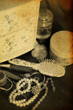 Beauty vintage accessories Stock Images