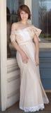 Beauty in Vintage Dress Stock Image