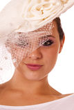 Beauty in vintage fashion hat Stock Photography