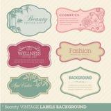Beauty vintage labels background Stock Image