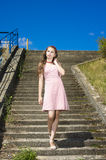 Beauty vintage teen Girl posing Outdoors Royalty Free Stock Image