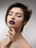 Beauty Vogue Style Fashion Model Girl. Stock Photo
