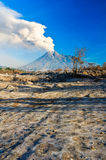 The Beauty of Volcano. Beauty volcano in potrait with the blue sky Royalty Free Stock Images
