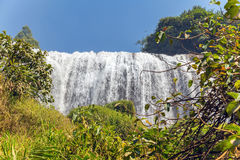 Beauty waterfall on mountain landscapes Royalty Free Stock Image
