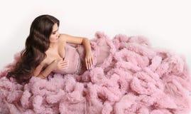 Beauty wavy hair. Fashion brunette pretty woman in gorgeous long Stock Image