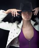 beauty wearing a hat Stock Photo