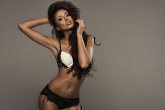 Beauty wearing lingerie Stock Photo