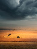 Beauty of weather changes before the storm Royalty Free Stock Photos