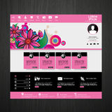 Beauty website template Royalty Free Stock Image