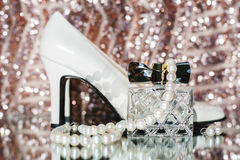 Beauty of wedding accessories. Stock Photos