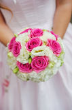 Beauty wedding bouquet of red and white roses Royalty Free Stock Photo