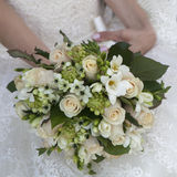 Beauty wedding bouquet of yellow and cream roses Royalty Free Stock Image