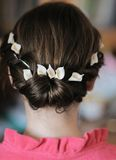 Beauty wedding hairstyle Royalty Free Stock Photos