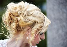 Beauty wedding hairstyle Royalty Free Stock Images
