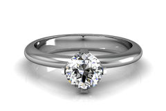 The beauty wedding ring. (high resolution 3D image Stock Photography