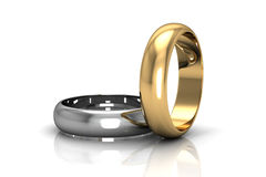 The beauty wedding ring Stock Images