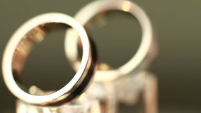 The beauty wedding ring stock video footage