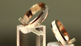 The beauty wedding ring stock footage