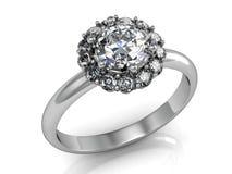 The beauty wedding ring on white background Stock Image