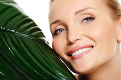 Beauty wellbeing smiling wonan face Royalty Free Stock Photography