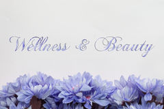Beauty and wellness background with flowers Royalty Free Stock Photo