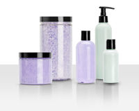Beauty and wellness products isolated Royalty Free Stock Photography