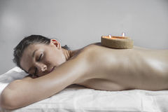Beauty.Wellness - woman receiving body or back massage in spa Stock Photo