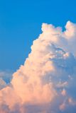 Beauty white cloud spotlighted cadenced sunshine Stock Image