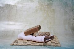 Beauty whitening herbal soap royalty free stock images