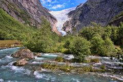 Beauty of the wild Norse river. The beauty of the wild Norse river Royalty Free Stock Photos