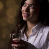 Beauty and the wine Royalty Free Stock Image
