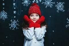 Beauty of winter fashion royalty free stock photo