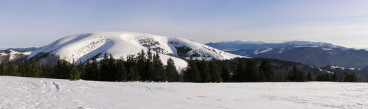 Beauty of the winter mountains Royalty Free Stock Photography