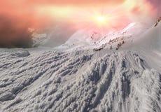 Beauty of winter mountains Stock Photos