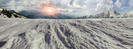 Beauty of winter mountains Stock Images
